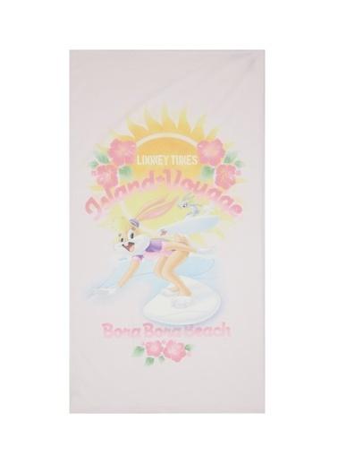 DeFacto Kız Çocuk Lola Bunny Lisanslı Plaj Havlusu Mor